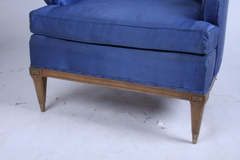 Hollywood Regency High Back Lounge Chair 3