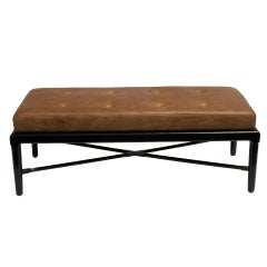 Mid-Century 1950s Style Custom Made X-Base Bench