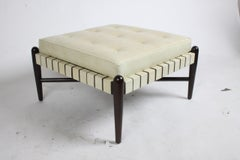 1950s Stool with Leatherette Straps