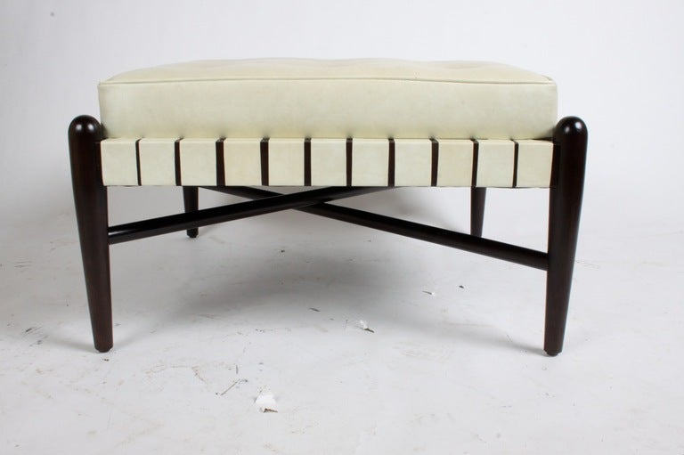 Mid-20th Century 1950s Stool with Leatherette Straps For Sale