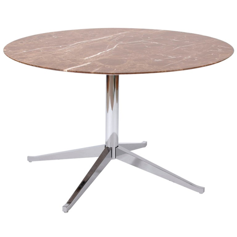 florence knoll round dining table at 1stdibs. Black Bedroom Furniture Sets. Home Design Ideas