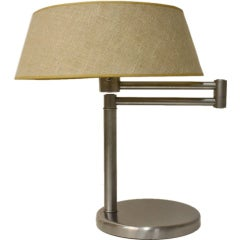 Nessen Stainless Swing Arm Table Lamp