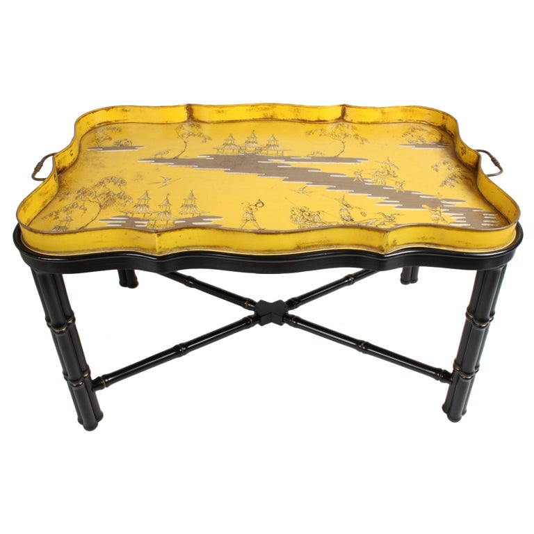 Italian Tole Chinoiserie Tray Cocktail Or Coffee Table For Sale At 1stdibs