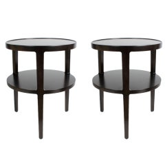 Edward Wormley for Dunbar Rare Pair of Round End tables