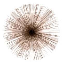 Curtis Jere Nickel Sea Urchin Wall Sculpture