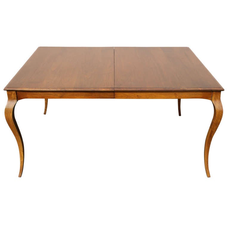 Custom Dining Table With Whiplash Legs And 4 Extension Leaves 9 Feet Extemde