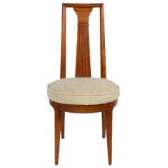 Single Neoclassical Influenced Desk Chair