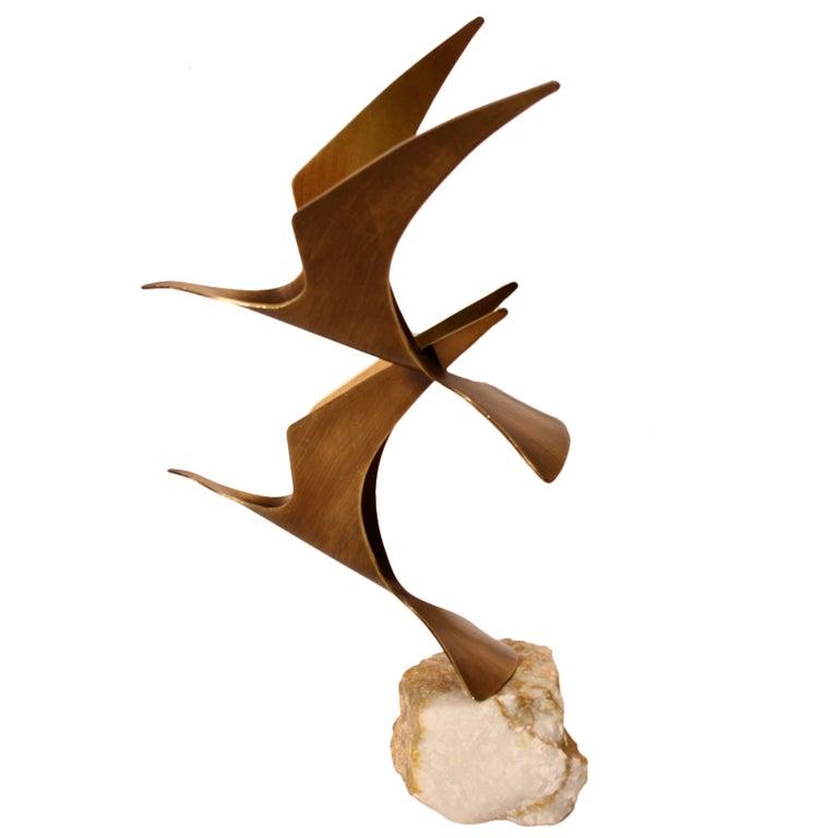Curtis Jere Birds in Flight Table top Sculpture 1