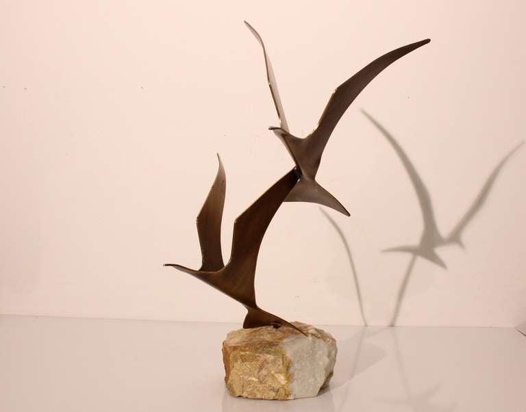 Curtis Jere Birds in Flight Table top Sculpture 2