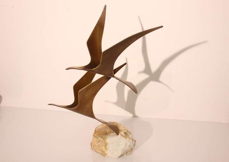 Curtis Jere Birds in Flight Table top Sculpture 3