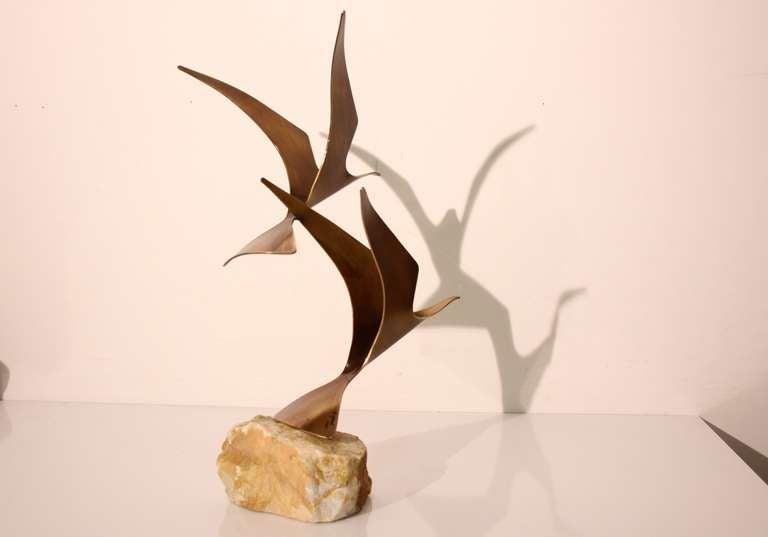 Curtis Jere Birds in Flight Table top Sculpture 4