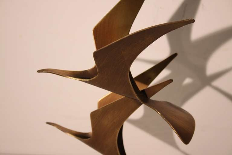 Curtis Jere Birds in Flight Table top Sculpture 5