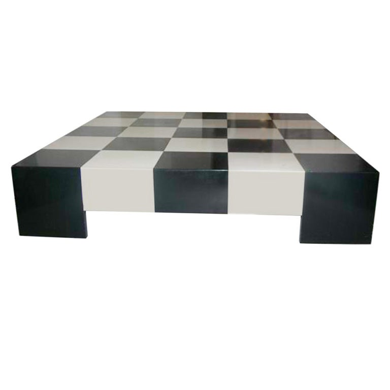 Milo Baughman Checkerboard Cocktail Table 1