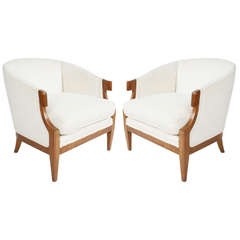 Pair of Baker occasional chairs from the 1940s