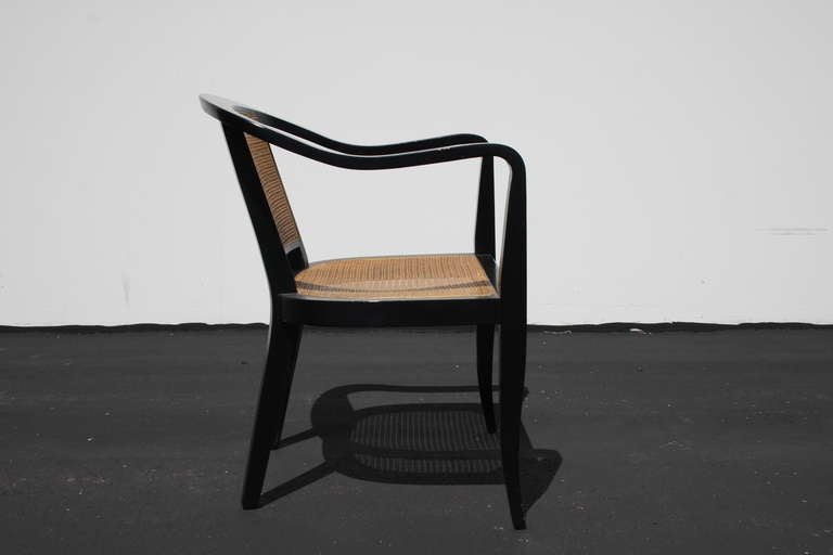 Mid-20th Century Pair of Edward Wormley for Dunbar Style Caned Chairs