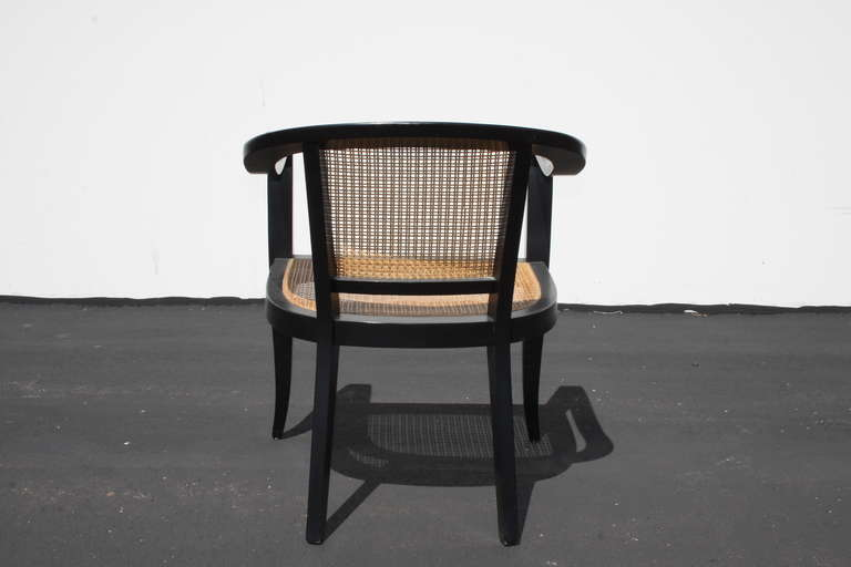 Pair of Edward Wormley for Dunbar Style Caned Chairs 1