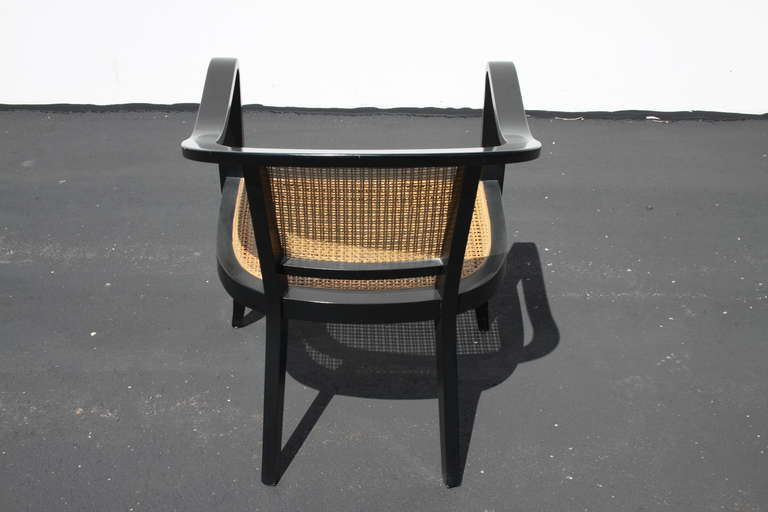 Pair of Edward Wormley for Dunbar Style Caned Chairs 2