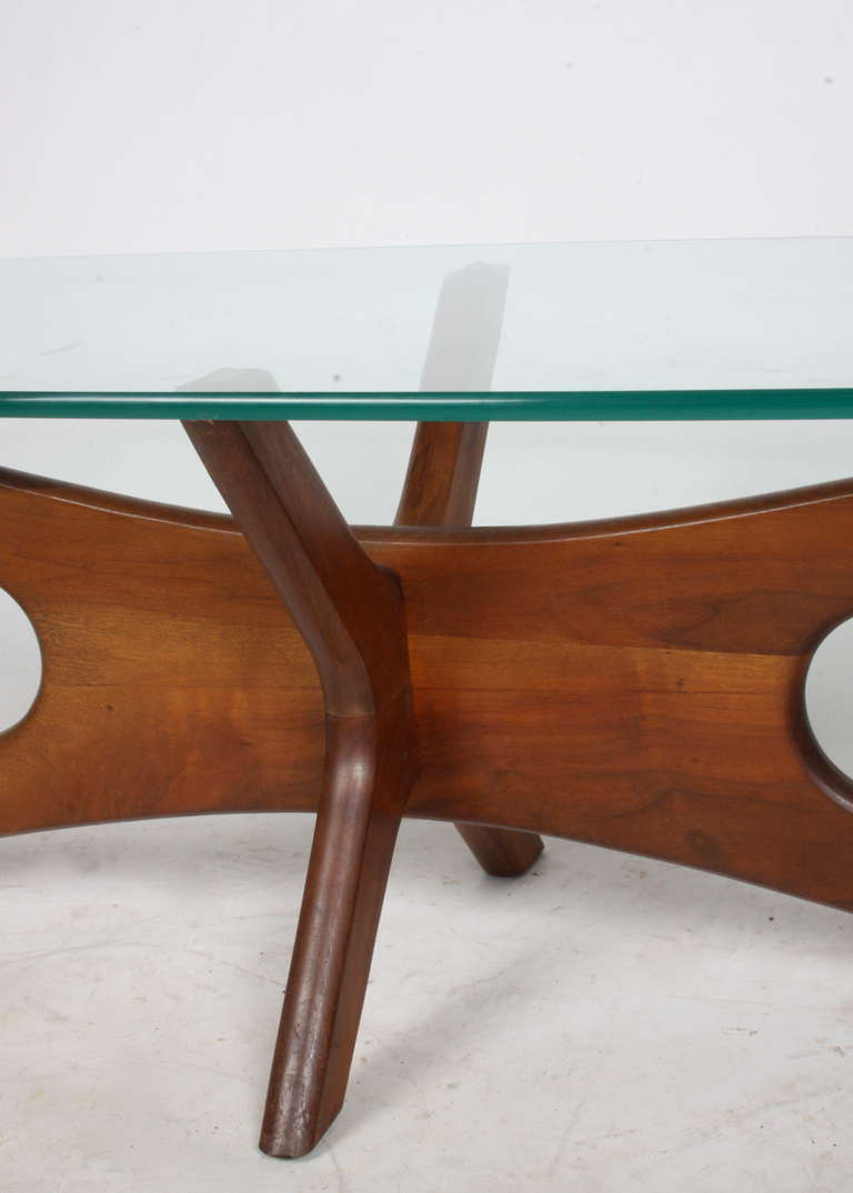 Adrian pearsall coffee table with sculptural base and glass top at 1stdibs Glass coffee table base