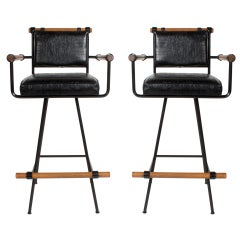 Pair of Cleo Baldon for Terra Swivel Barstools