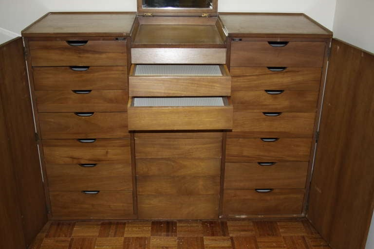 Mahogany Edward Wormley for Dunbar Gentleman's Chest For Sale