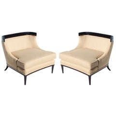 Pair of Tomlison sophisticate slipper chairs