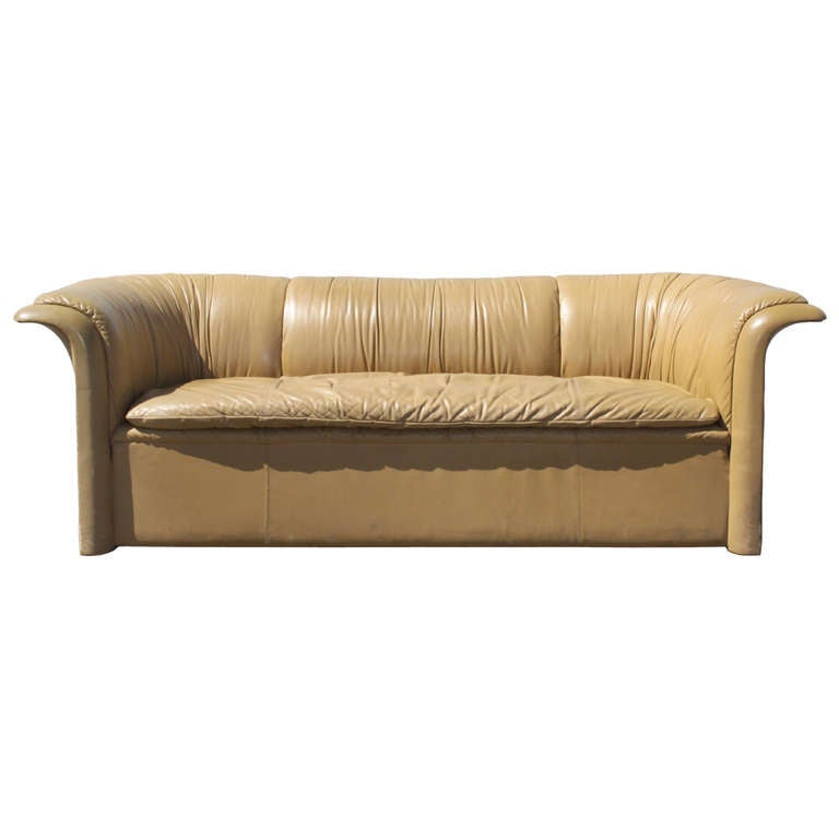Dunbar Leather Sofa by Dennis Christiansen, circa 1970s 1