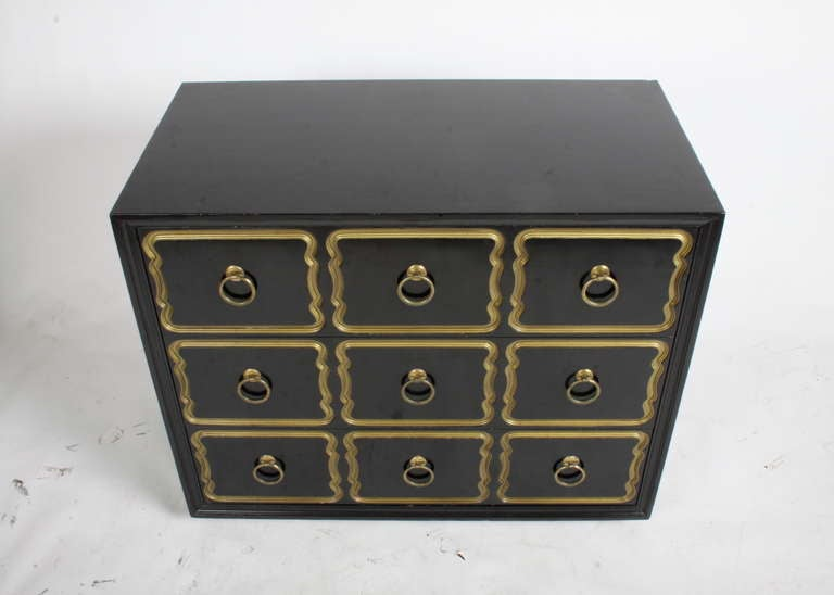 Wood Dorothy Draper Espana chest for Hertiage For Sale