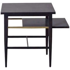 Paul McCobb Side Table, Nightstand with Pull-Out Shelf
