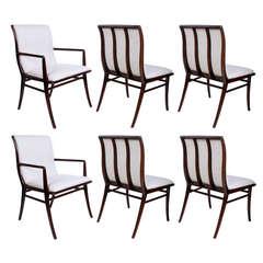 Set of Six T.H. Robsjohn-Gibbings for Widdicomb Dining Chairs