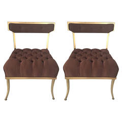 Pair of Billy Haines Slipper Chairs