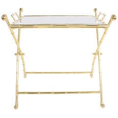 Italian Brass Bar or Cocktail Tray Table