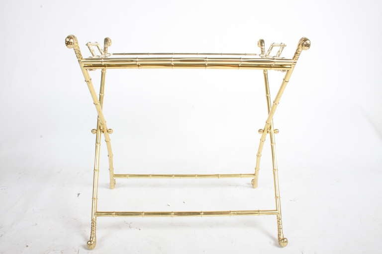 Italian Brass Bar or Cocktail Tray Table 2
