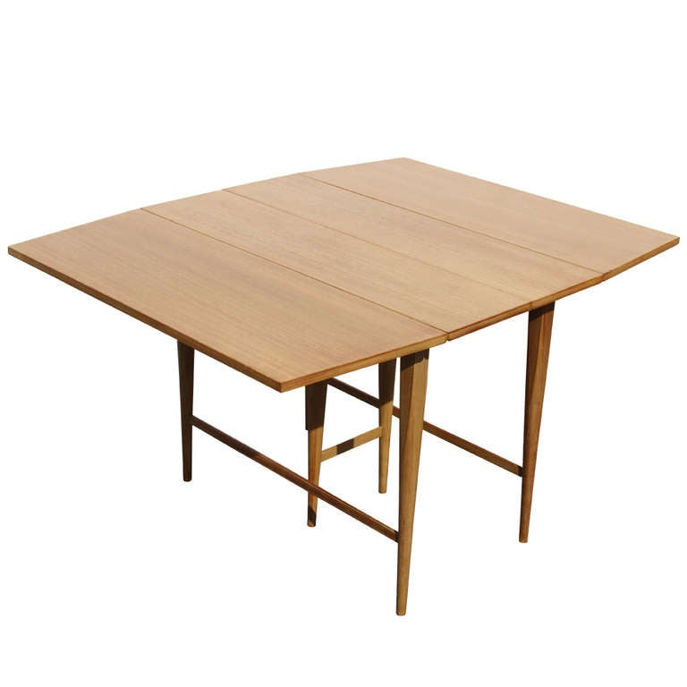 Mccobb drop leaf dining table with 3 leaves at 1stdibs for 3 leaf dining room tables