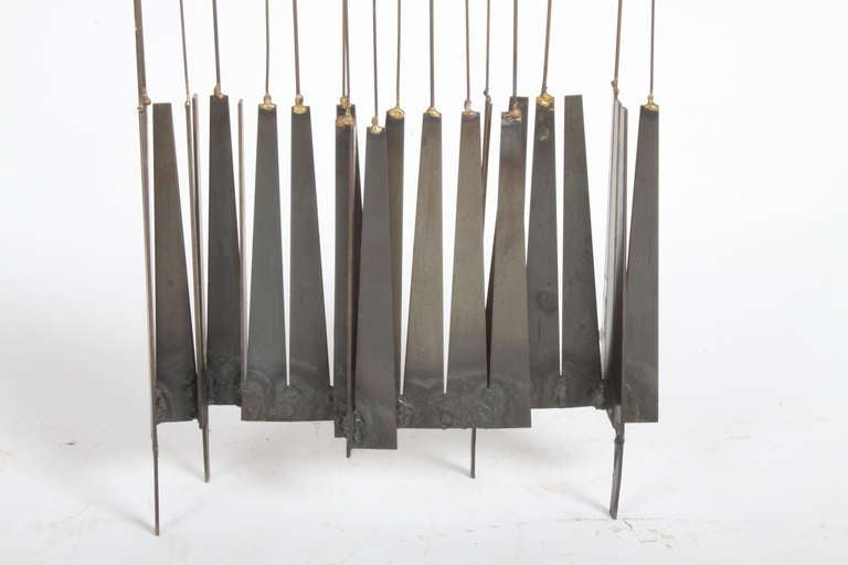 Kinetic Mid-Century Floor Sculpture by New York Artist William Bowie In Good Condition For Sale In St. Louis, MO