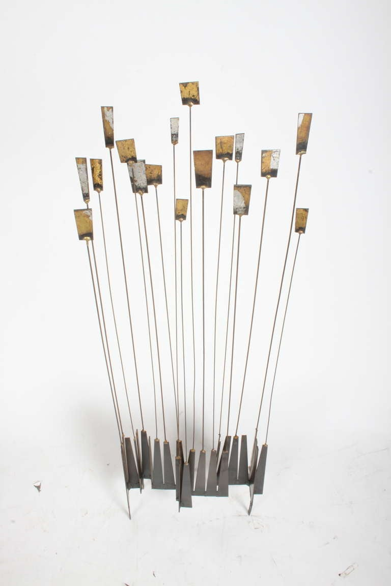 American Kinetic Mid-Century Floor Sculpture by New York Artist William Bowie For Sale