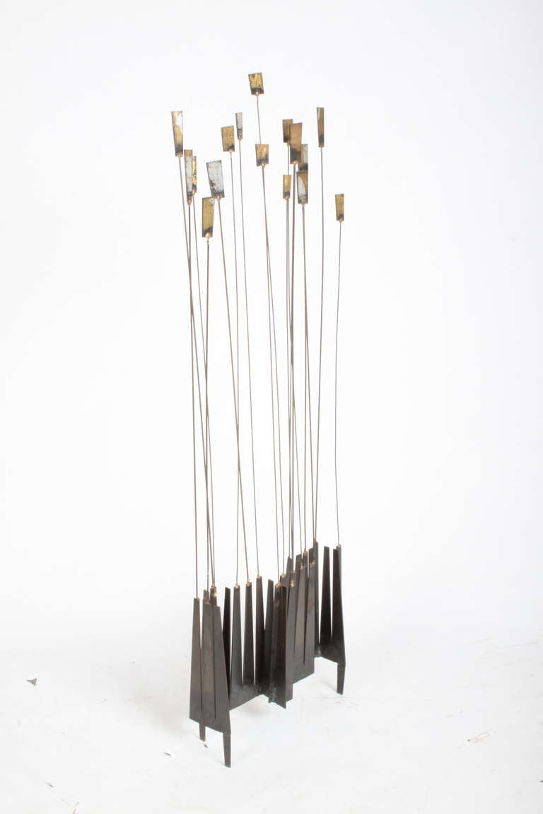 Mid-Century Modern Kinetic Mid-Century Floor Sculpture by New York Artist William Bowie For Sale