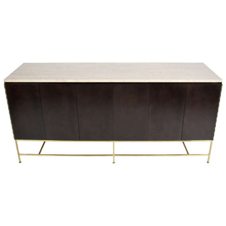 Paul McCobb Travertine Top Sideboard For Sale