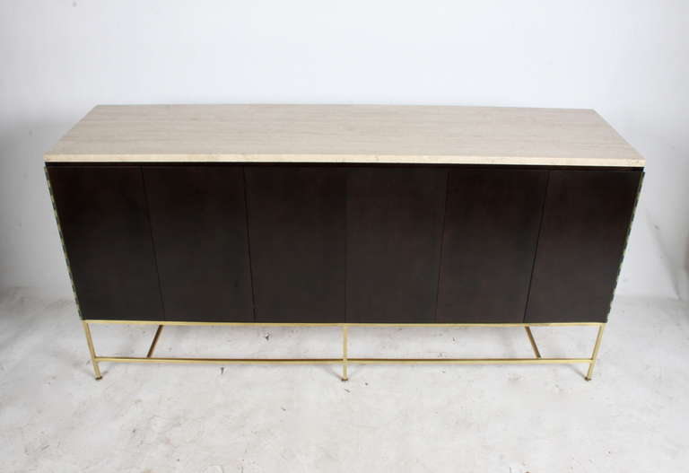 Paul McCobb Travertine Top Sideboard For Sale 2