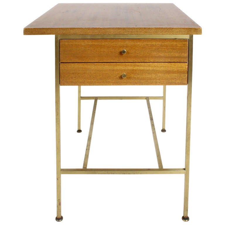 Paul McCobb Calvin Group End Table with Brass Base