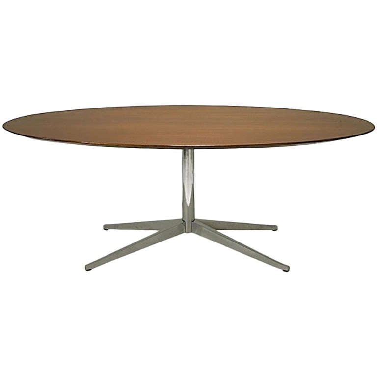 dining table florence knoll oval dining table. Black Bedroom Furniture Sets. Home Design Ideas
