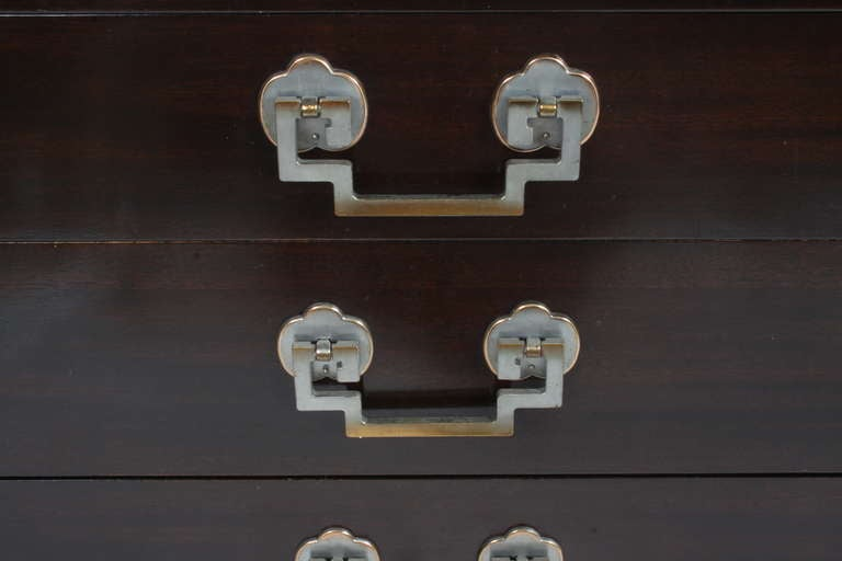 Mahogany Pair of 1940s Chests For Sale