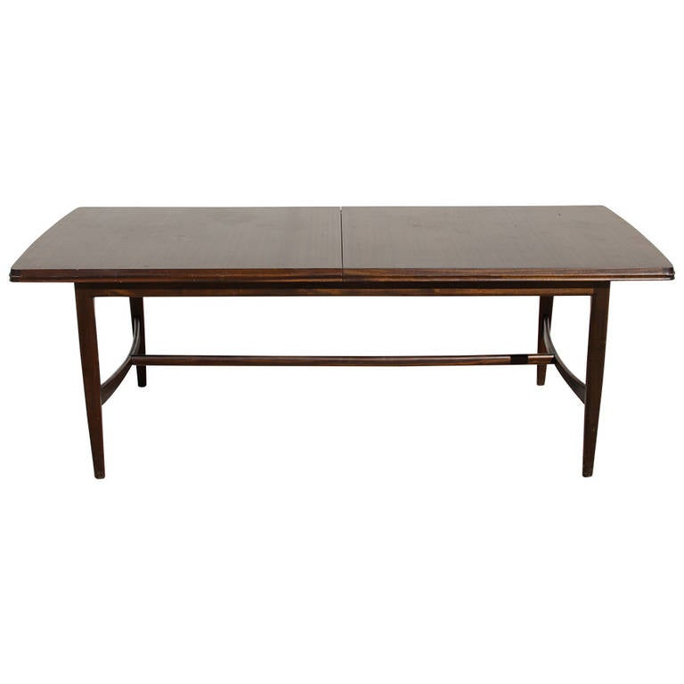 Midcentury Mahogany Dining Table with Extension Leaf at  : 1274104l from www.1stdibs.com size 768 x 768 jpeg 19kB
