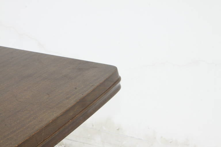 Mid-Century Mahogany Dining Table with Extension Leaf For Sale 2