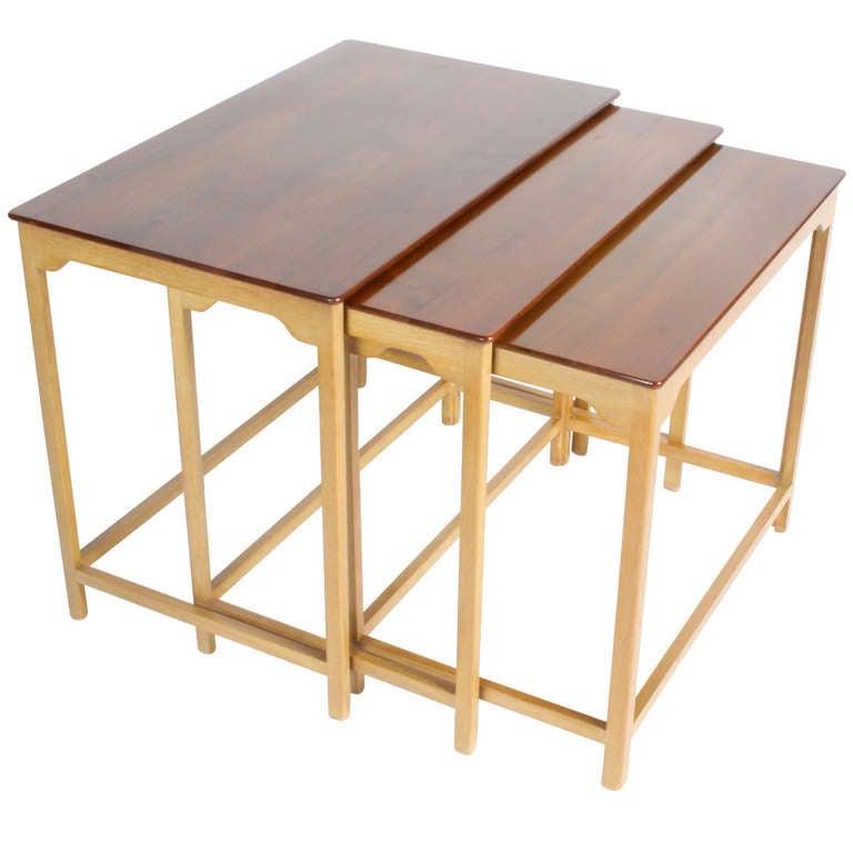 Edward Wormley for Dunbar Nesting Tables For Sale