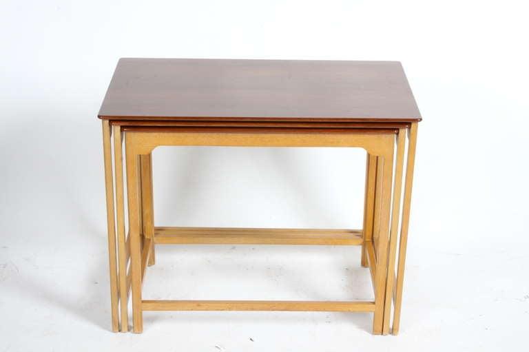Mid-20th Century Edward Wormley for Dunbar Nesting Tables For Sale