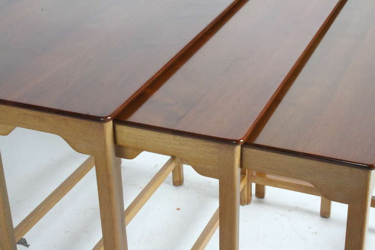Edward Wormley for Dunbar Nesting Tables For Sale 3