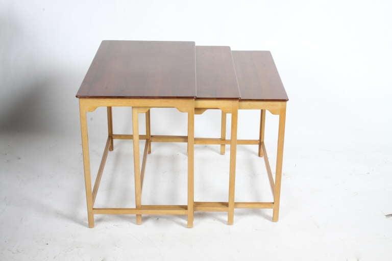 American Edward Wormley for Dunbar Nesting Tables For Sale
