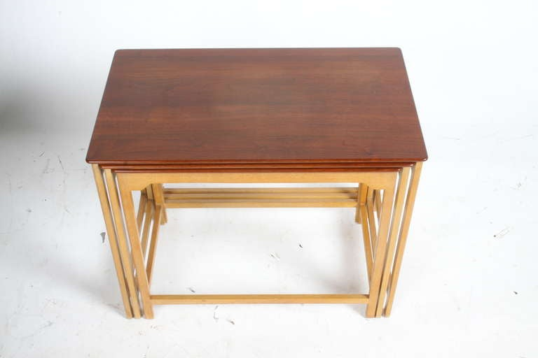 Edward Wormley for Dunbar Nesting Tables For Sale 1