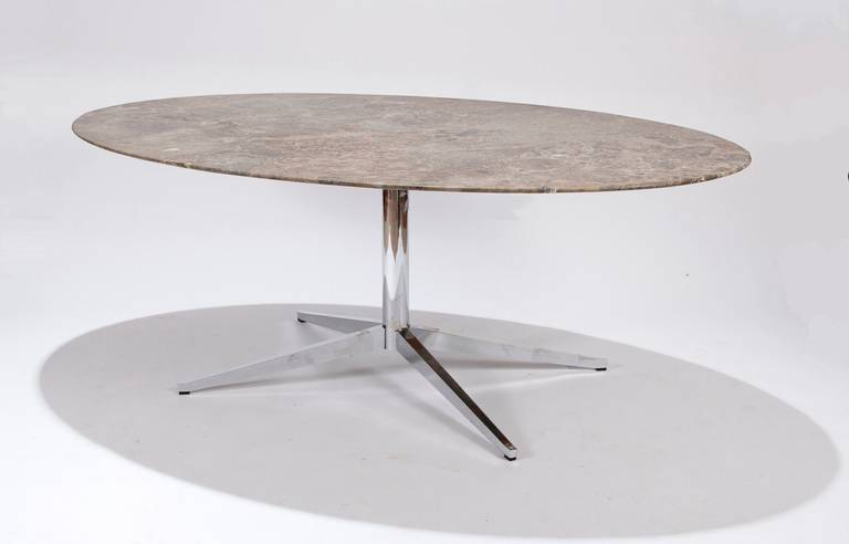 florence knoll marbletop oval dining table 2