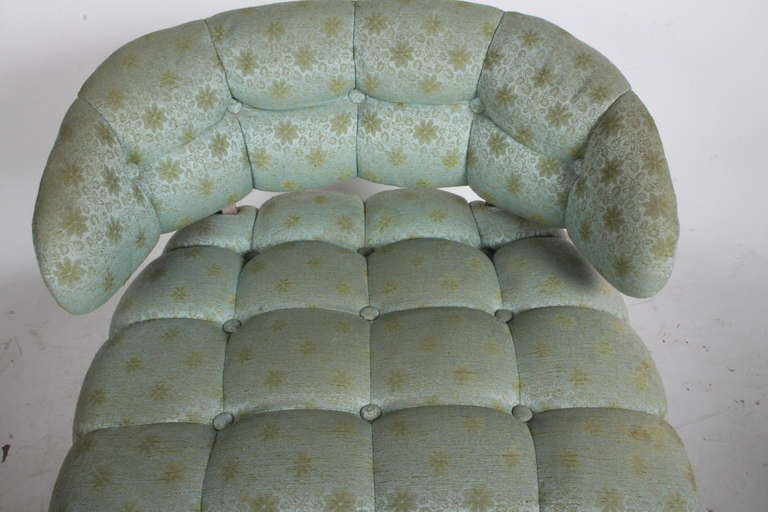 Pair of Grosfeld House Tufted Slipper Chairs For Sale 2